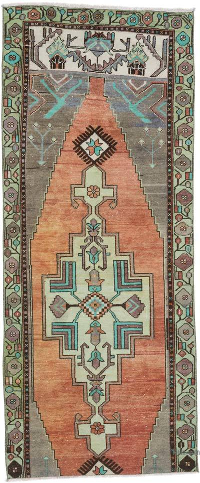 """Vintage Turkish Hand-Knotted Runner - 3'  x 7' 6"""" (36 in. x 90 in.)"""
