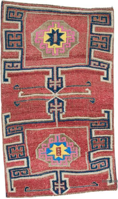"""Vintage Turkish Hand-Knotted Rug - 3' 9"""" x 6' 5"""" (45 in. x 77 in.)"""