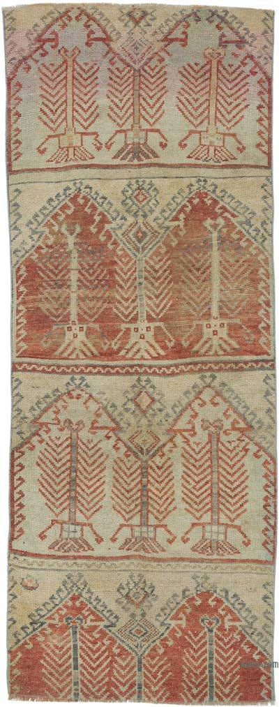 """Vintage Turkish Hand-Knotted Runner - 3' 4"""" x 8' 4"""" (40 in. x 100 in.)"""