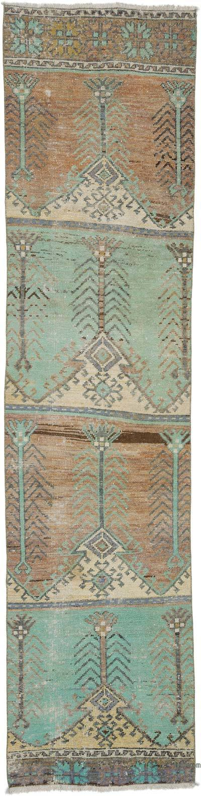 """Vintage Turkish Hand-Knotted Runner - 2' 9"""" x 11'  (33 in. x 132 in.)"""