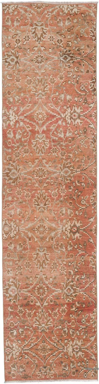 """Vintage Turkish Hand-Knotted Runner - 2' 5"""" x 9' 5"""" (29 in. x 113 in.)"""