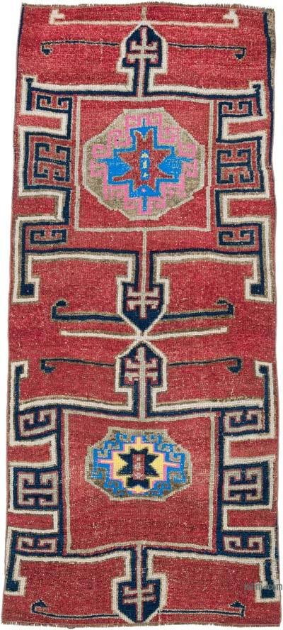 """Vintage Turkish Hand-Knotted Rug - 3' 5"""" x 7' 5"""" (41 in. x 89 in.)"""