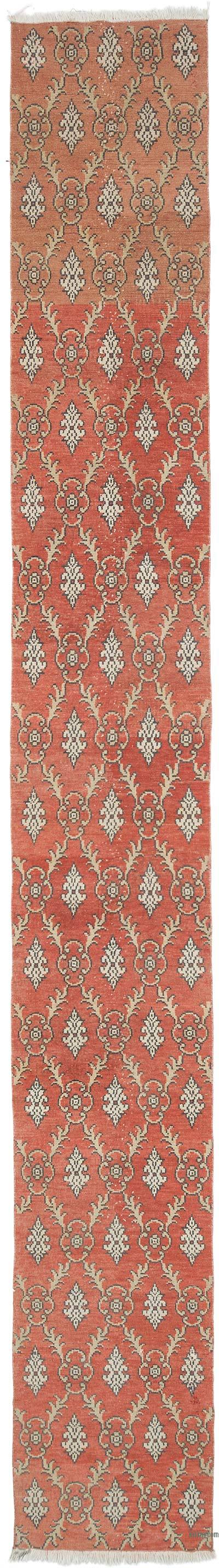 """Vintage Turkish Hand-Knotted Runner - 2'  x 14' 10"""" (24 in. x 178 in.)"""