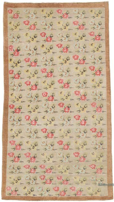 """Vintage Turkish Hand-Knotted Rug - 4' 4"""" x 7' 9"""" (52 in. x 93 in.)"""