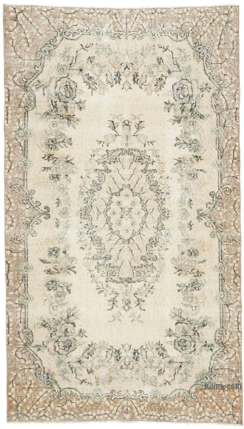 """Vintage Turkish Hand-Knotted Rug - 3' 11"""" x 6' 11"""" (47 in. x 83 in.) - K0056465"""