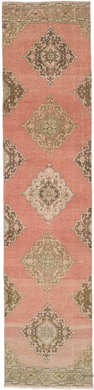 """Vintage Turkish Hand-Knotted Runner - 2' 10"""" x 12' 3"""" (34 in. x 147 in.)"""