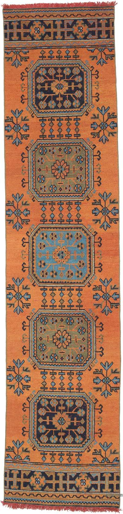 """Vintage Turkish Hand-Knotted Runner - 2' 9"""" x 11' 7"""" (33 in. x 139 in.)"""