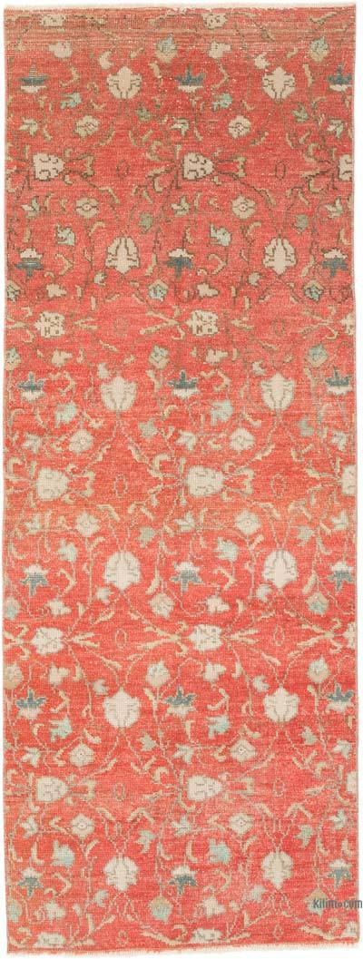 """Vintage Turkish Hand-Knotted Runner - 2' 9"""" x 7' 5"""" (33 in. x 89 in.)"""