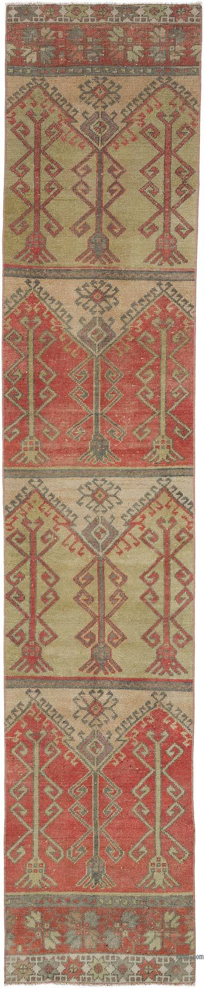 """Vintage Turkish Hand-Knotted Runner - 2' 5"""" x 12'  (29 in. x 144 in.)"""
