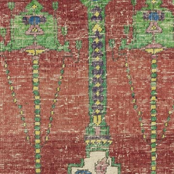 """Vintage Turkish Hand-Knotted Rug - 4' 1"""" x 5' 5"""" (49 in. x 65 in.) - K0056479"""