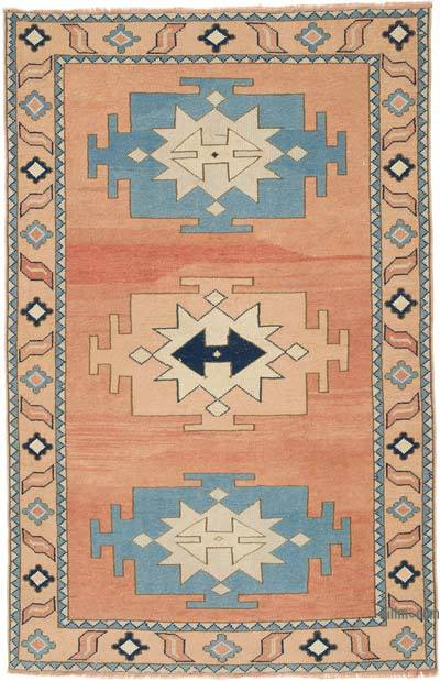 """Vintage Turkish Hand-Knotted Rug - 4' 1"""" x 6' 3"""" (49 in. x 75 in.)"""