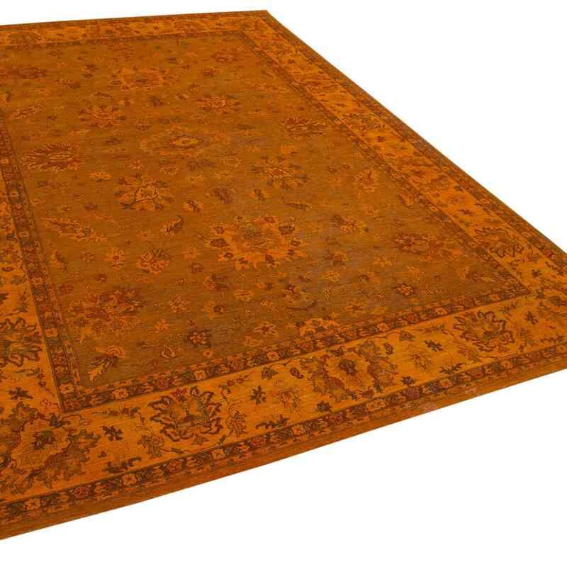 Turuncu Yeni El Dokuma Uşak Halısı - 295 cm x 432 cm - K0056484