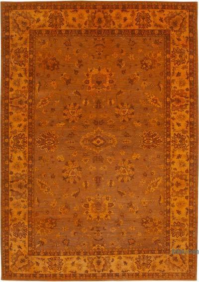 Turuncu Yeni El Dokuma Uşak Halısı - 295 cm x 432 cm