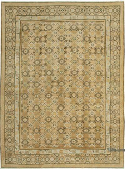 """Beige New Hand-Knotted Wool Oushak Rug - 10'  x 13' 9"""" (120 in. x 165 in.)"""