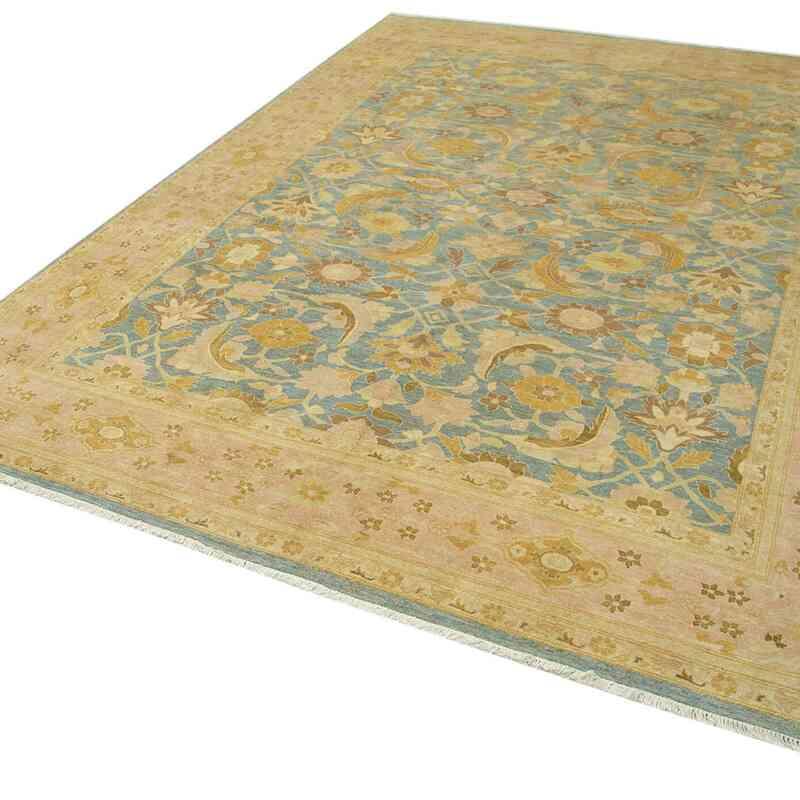 Bej Yeni El Dokuma Uşak Halısı - 312 cm x 434 cm - K0056486