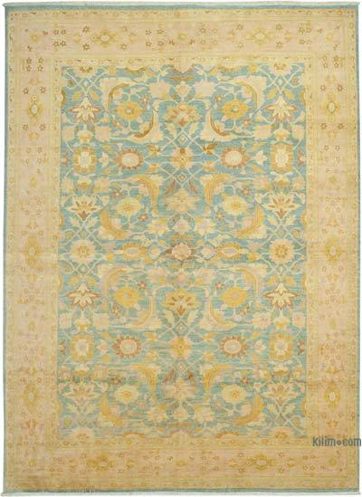 """Beige New Hand-Knotted Wool Oushak Rug - 10' 3"""" x 14' 3"""" (123 in. x 171 in.)"""