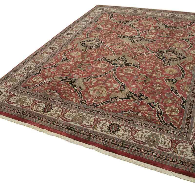 Kırmızı Yeni El Dokuma Uşak Halısı - 305 cm x 418 cm - K0056490