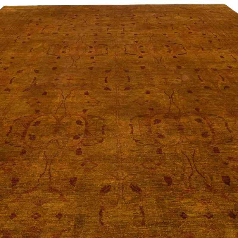 Turuncu Yeni El Dokuma Uşak Halısı - 305 cm x 485 cm - K0056491
