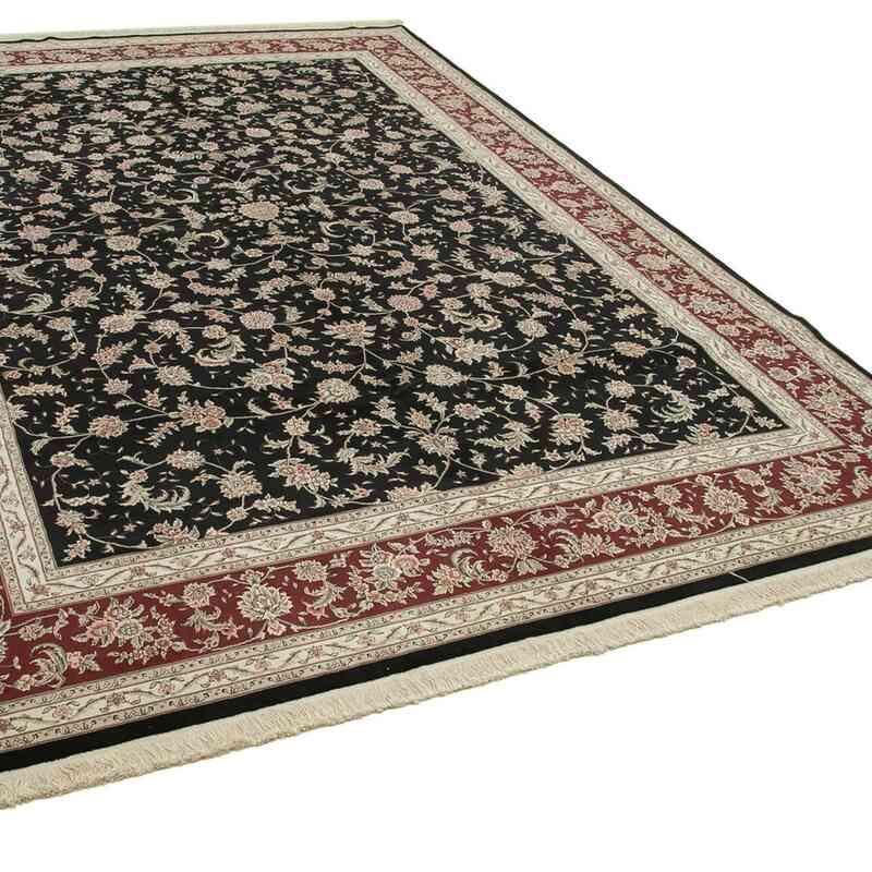 Siyah Yeni El Dokuma Uşak Halısı - 304 cm x 428 cm - K0056493