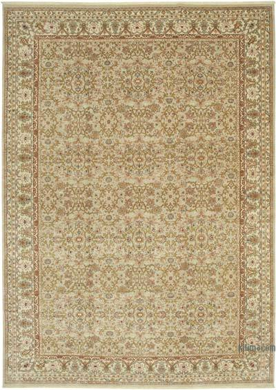 """Beige New Hand-Knotted Wool Oushak Rug - 9' 10"""" x 13' 9"""" (118 in. x 165 in.)"""