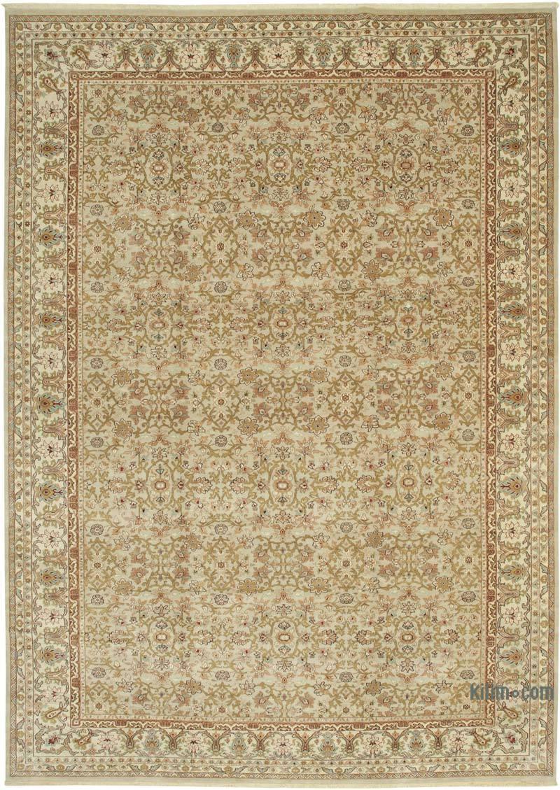 Bej Yeni El Dokuma Uşak Halısı - 300 cm x 419 cm - K0056499