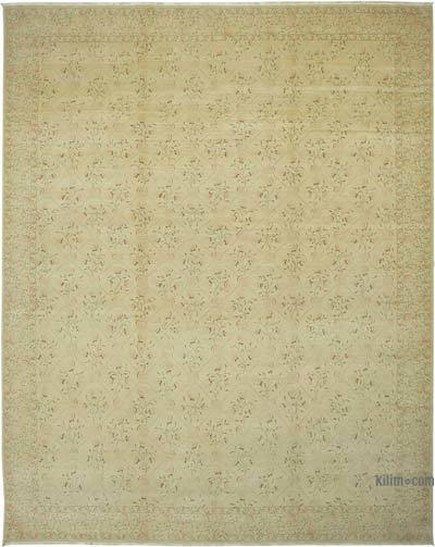 """Beige New Hand-Knotted Wool Oushak Rug - 12'  x 15' 1"""" (144 in. x 181 in.)"""