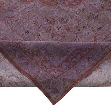 """Purple New Hand-Knotted Wool Oushak Rug - 12' 10"""" x 18' 2"""" (154 in. x 218 in.) - K0056507"""