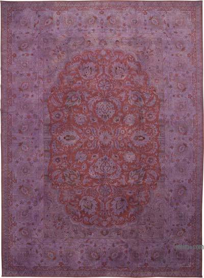 """Purple New Hand-Knotted Wool Oushak Rug - 12' 10"""" x 18' 2"""" (154 in. x 218 in.)"""