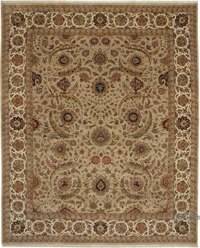 """Beige New Hand-Knotted Wool Oushak Rug - 12' 3"""" x 15' 2"""" (147 in. x 182 in.)"""