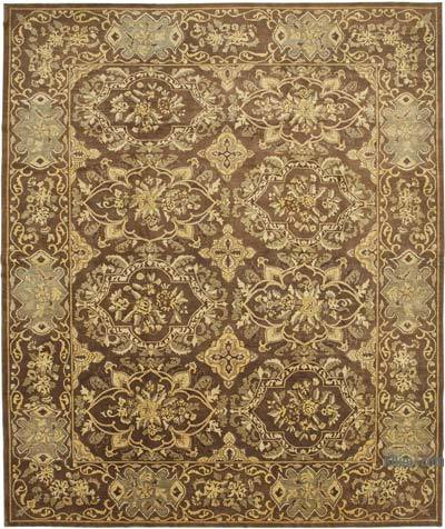"""Brown New Hand-Knotted Wool Oushak Rug - 12'  x 14' 7"""" (144 in. x 175 in.)"""