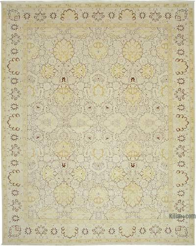 """Beige New Hand-Knotted Wool Oushak Rug - 11' 11"""" x 15'  (143 in. x 180 in.)"""