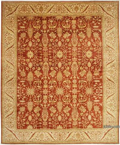 """Red, Beige New Hand-Knotted Wool Oushak Rug - 12'  x 14' 7"""" (144 in. x 175 in.)"""