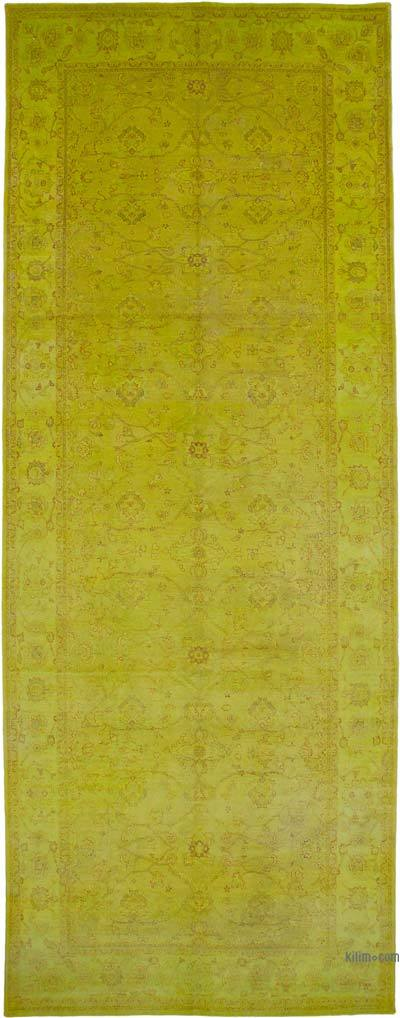 """Yellow New Hand-Knotted Wool Oushak Rug - 7' 10"""" x 21' 1"""" (94 in. x 253 in.)"""