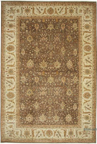 """Beige, Brown New Hand-Knotted Wool Oushak Rug - 11' 11"""" x 17' 11"""" (143 in. x 215 in.)"""