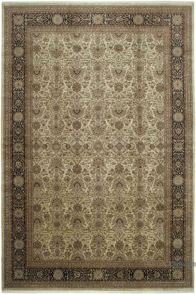 """Beige New Hand-Knotted Wool Oushak Rug - 11' 9"""" x 17' 11"""" (141 in. x 215 in.)"""