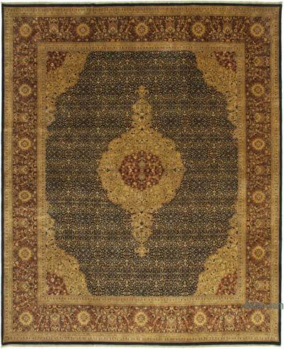 """Multicolor New Hand-Knotted Wool Oushak Rug - 12' 2"""" x 14' 11"""" (146 in. x 179 in.)"""