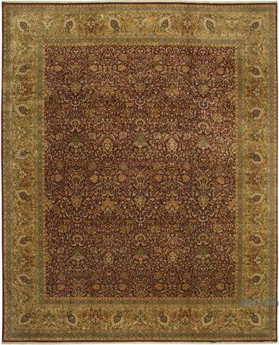 """Red New Hand-Knotted Wool Oushak Rug - 12' 3"""" x 15' 2"""" (147 in. x 182 in.)"""