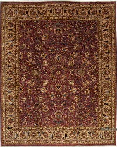 """Red, Yellow New Hand-Knotted Wool Oushak Rug - 12' 1"""" x 15' 2"""" (145 in. x 182 in.)"""