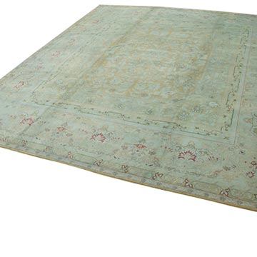 """Beige New Hand-Knotted Wool Oushak Rug - 13' 1"""" x 14' 1"""" (157 in. x 169 in.) - K0056557"""