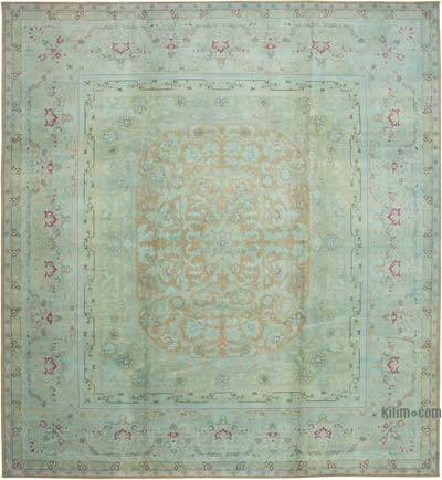 """Beige New Hand-Knotted Wool Oushak Rug - 13' 1"""" x 14' 1"""" (157 in. x 169 in.)"""