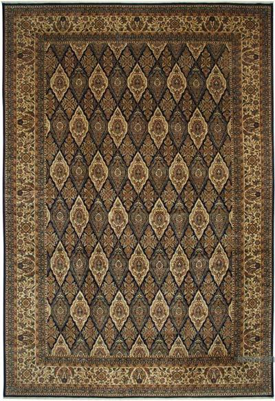 """Beige, Black New Hand-Knotted Wool Oushak Rug - 13' 4"""" x 19' 8"""" (160 in. x 236 in.)"""