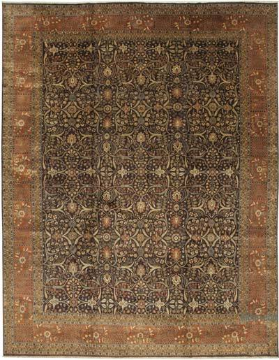 """Brown, Red New Hand-Knotted Wool Oushak Rug - 12' 4"""" x 15' 10"""" (148 in. x 190 in.)"""