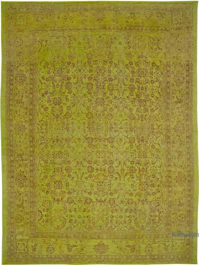 """Yellow New Hand-Knotted Wool Oushak Rug - 13' 7"""" x 18' 6"""" (163 in. x 222 in.)"""