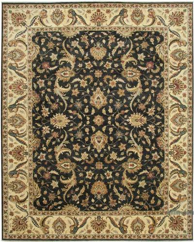 """Beige New Hand-Knotted Wool Oushak Rug - 11' 11"""" x 14' 9"""" (143 in. x 177 in.)"""