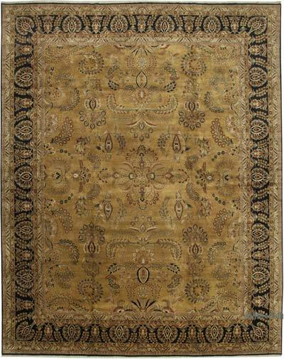 Beige New Hand-Knotted Wool Oushak Rug - 12'  x 15'  (144 in. x 180 in.)