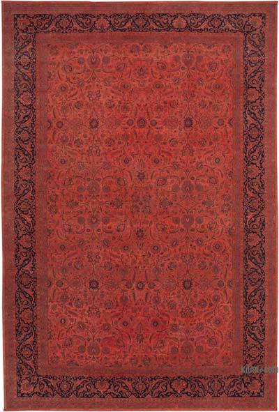 """Red New Hand-Knotted Wool Oushak Rug - 11' 7"""" x 17' 6"""" (139 in. x 210 in.)"""