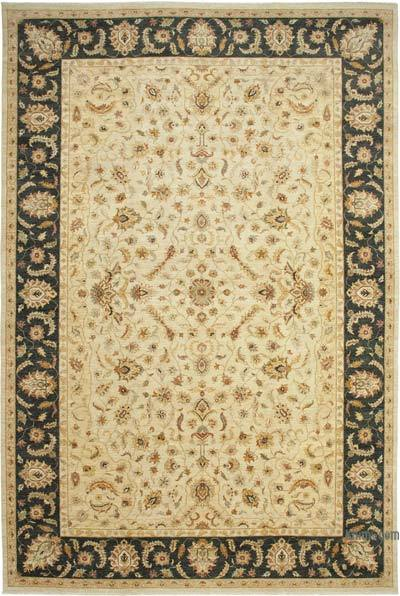 Beige Yeni El Dokuma Uşak Halısı - 363 cm x 545 cm