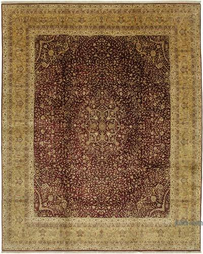"""Red, Yellow New Hand-Knotted Wool Oushak Rug - 11' 11"""" x 15' 1"""" (143 in. x 181 in.)"""
