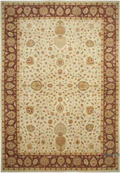 """Beige New Hand-Knotted Wool Oushak Rug - 13' 11"""" x 20' 4"""" (167 in. x 244 in.)"""