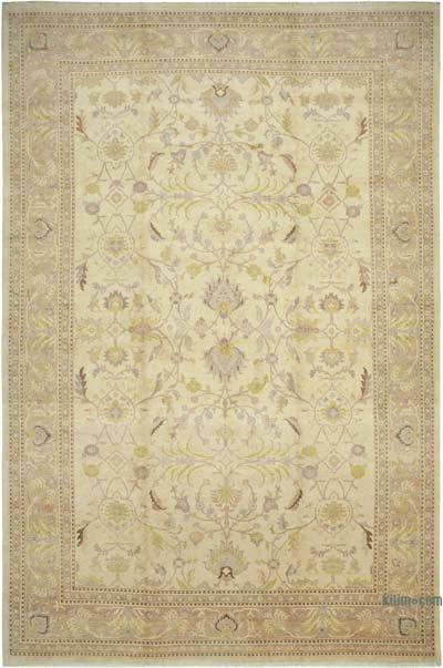 """Beige New Hand-Knotted Wool Oushak Rug - 12'  x 18' 4"""" (144 in. x 220 in.)"""